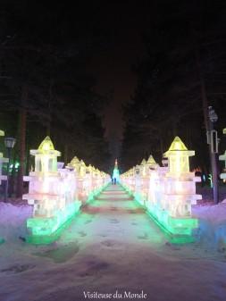 Sculpture de glace au Parc Zhaolin, Harbin