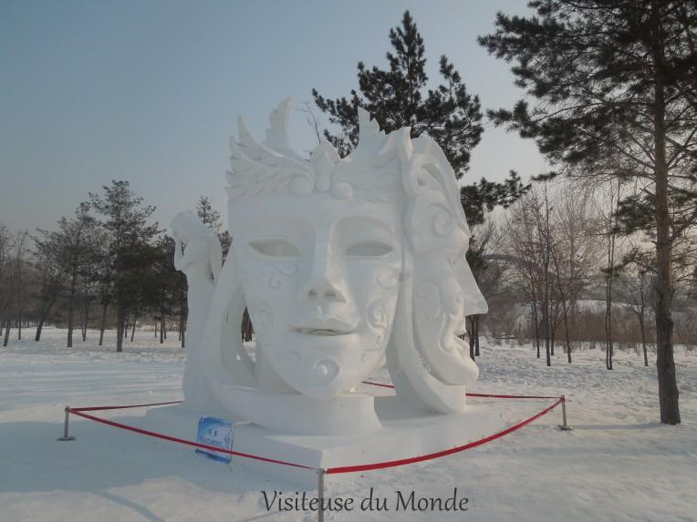 Sculpture de neige à Taiyangdao, Harbin
