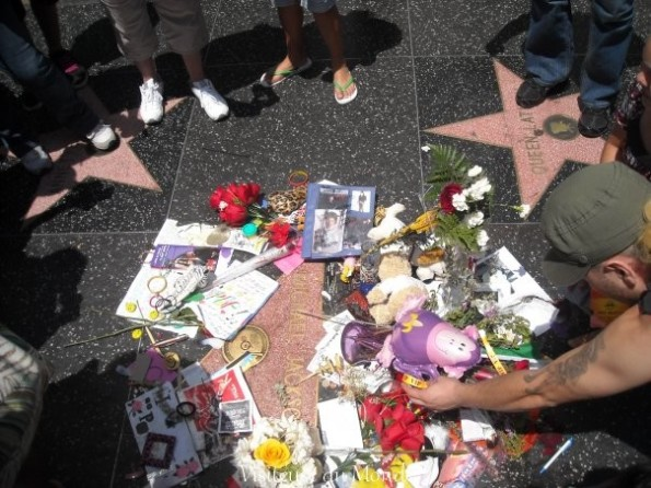 Michael Jackson, Walk of fame sur Hollywood Boulevard à Los Angeles
