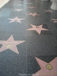 Walk of fame sur Hollywood Boulevard à Los Angeles