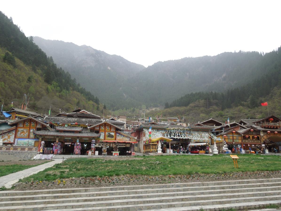 Jiuzhaigou, Village tibétain