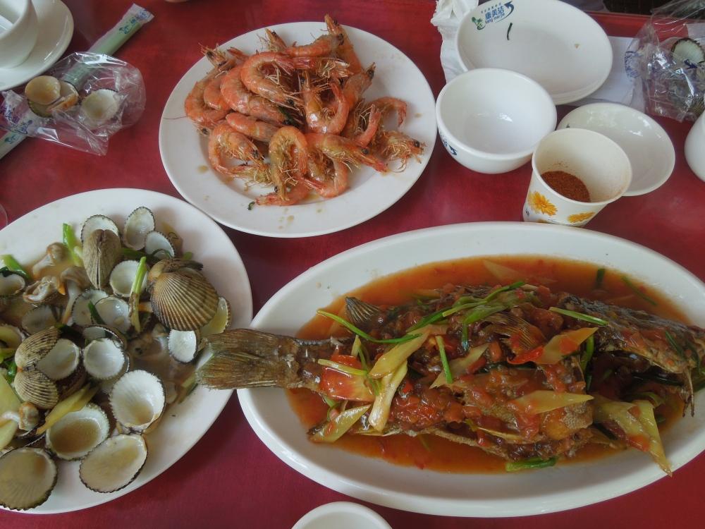 Repas à Sanya, Chine