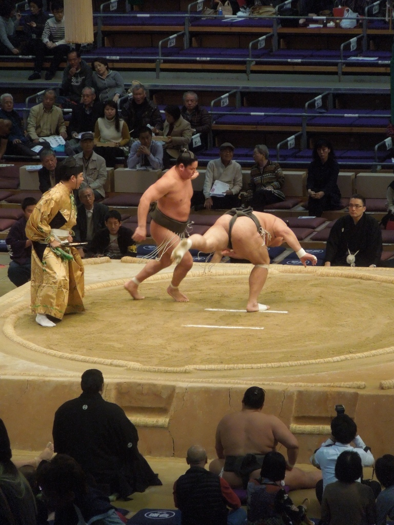 Tournoi de sumo, Fukuoka, Japon