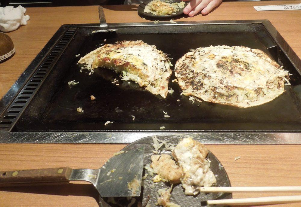 Negiyaki à Donguri, Kyoto