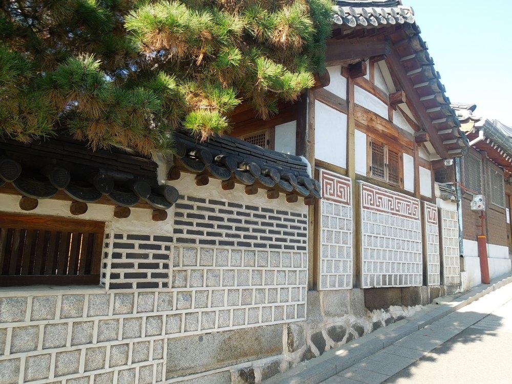 Séoul, Bukchon, façades