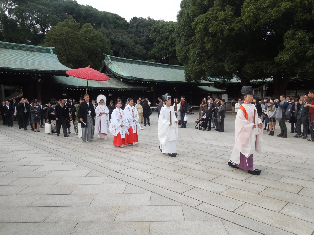 Tokyo, Mariage au Sanctuaire Meiji-jingu