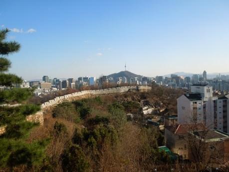 Séoul, Inwangsan, vue