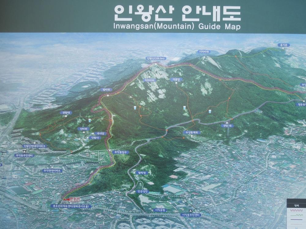 Séoul, Inwangsan, Plan