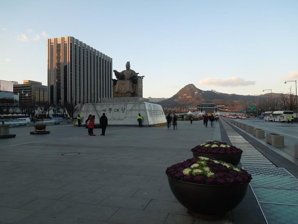 Séoul, Statue Sejong le Grand