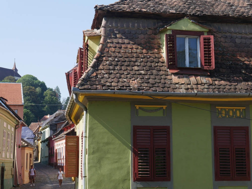 Roumanie, toitures de Sighișoara