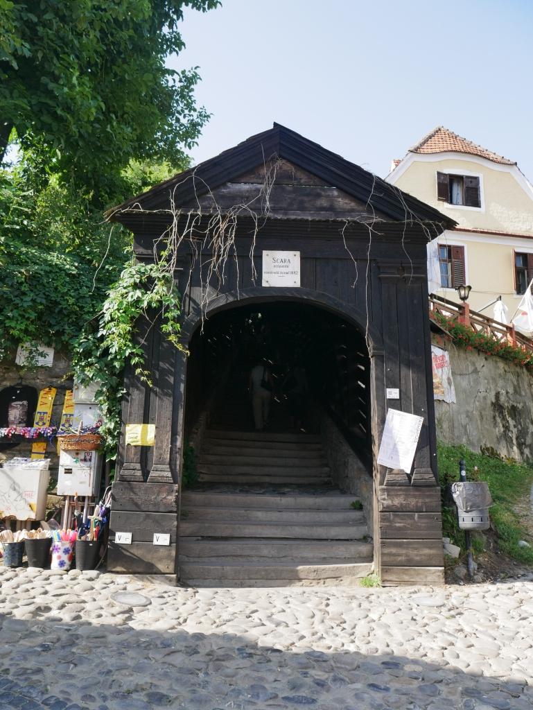 Roumanie, Sighișoara, Escalier des écoliers