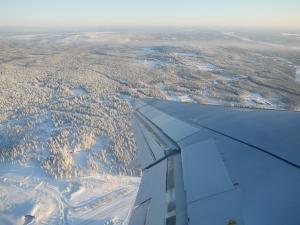 La Laponie vue de l'avion