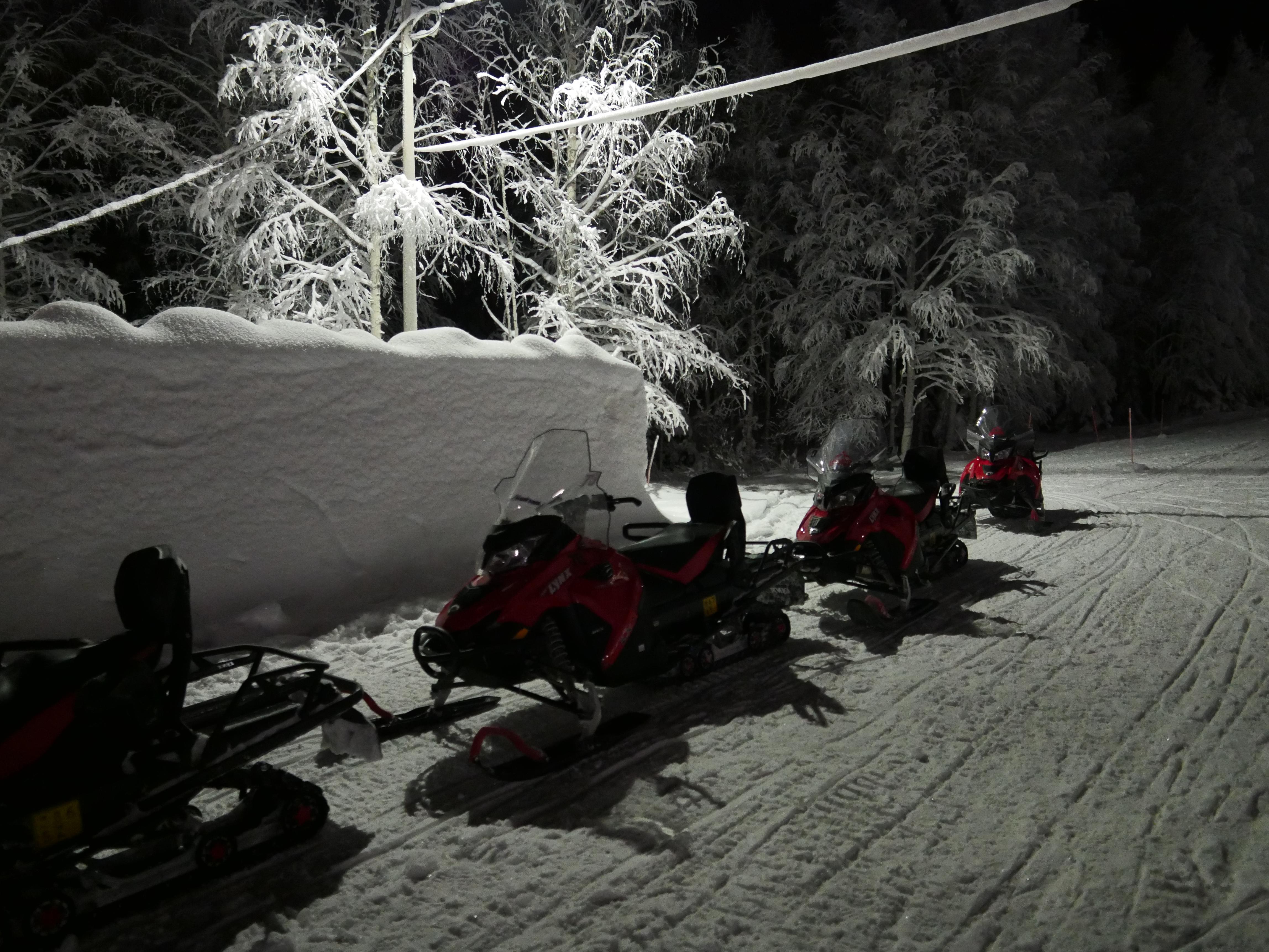 Laponie - Motoneige