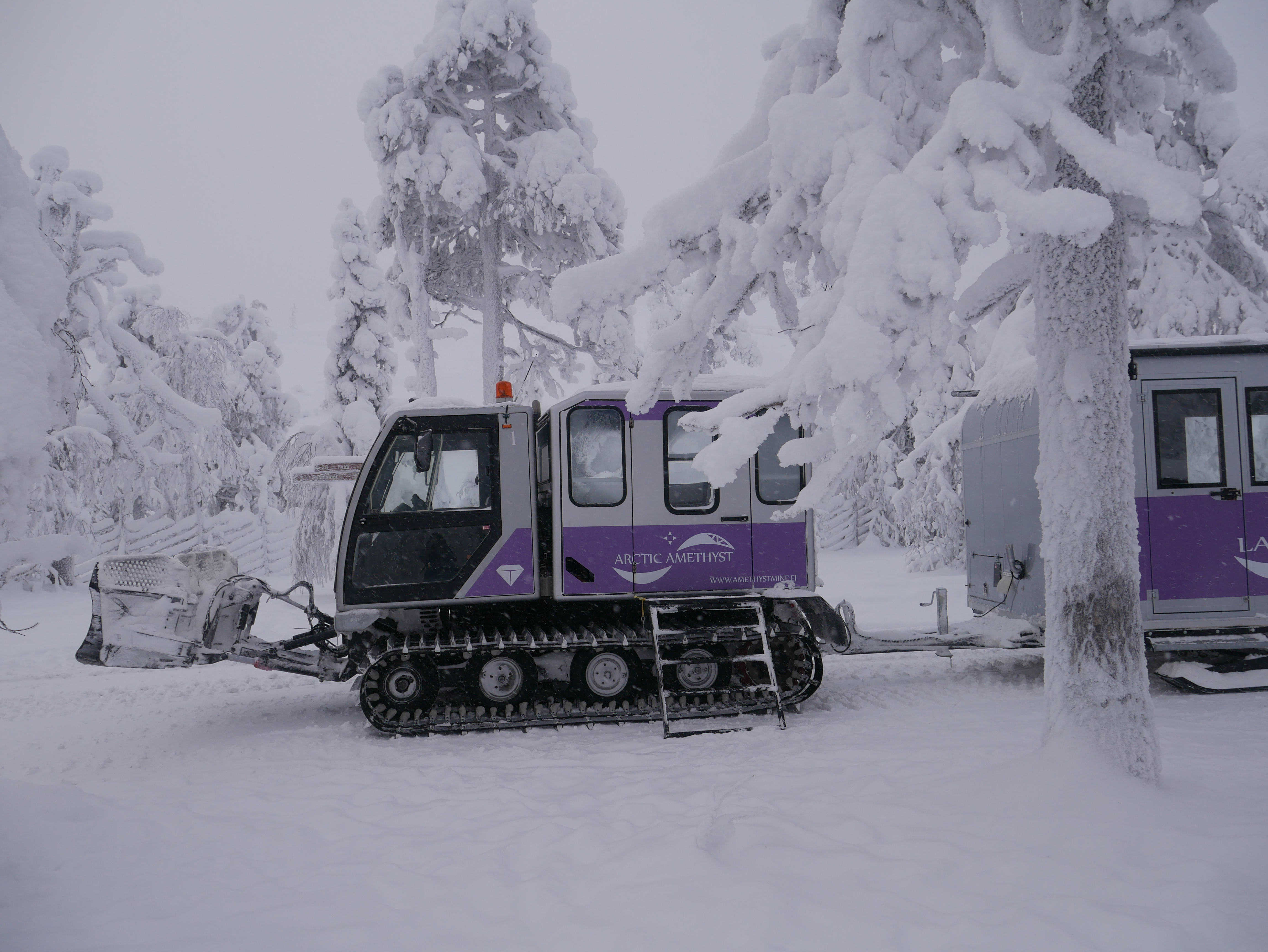 Laponie - Pendolino de la mine d'améthyste