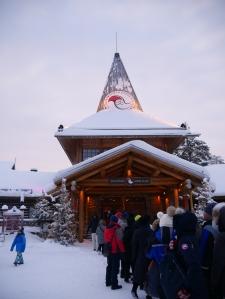 Laponie - Village du Père Noël file d'attente