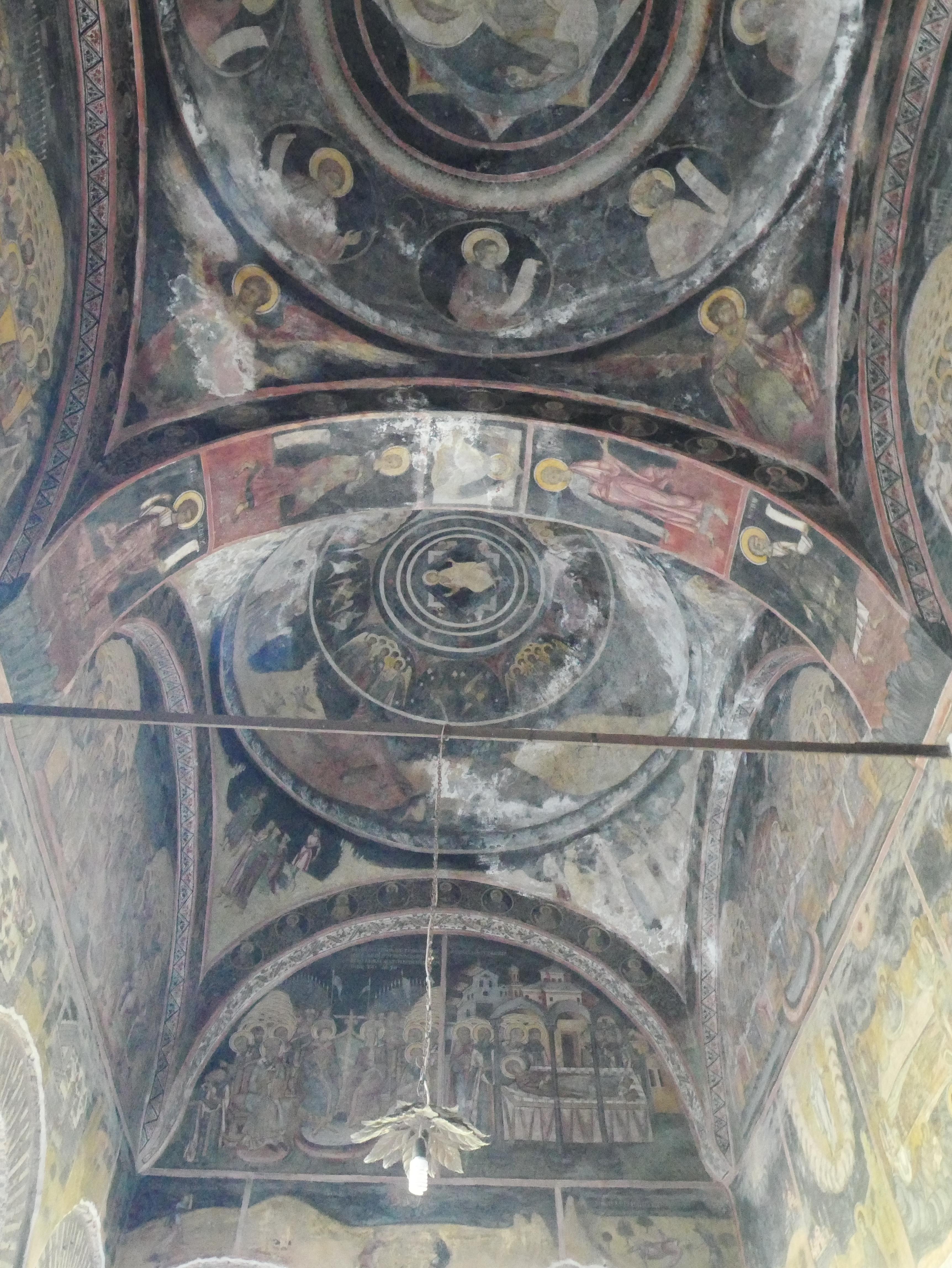 Bucarest - Détails peintures église Crețulescu