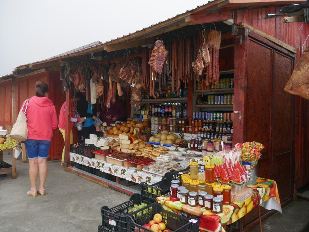 Roumanie - Stands autour du lac Bâlea