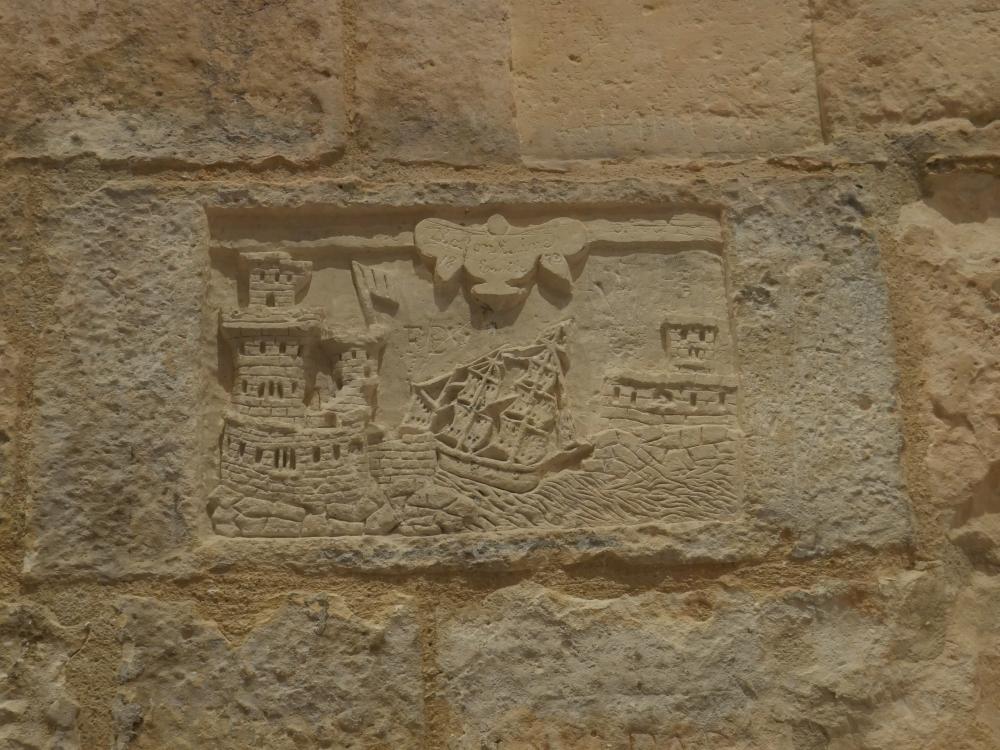 """""""Graffitis"""" d'un prisonnier de la Tour de la Lanterne"""