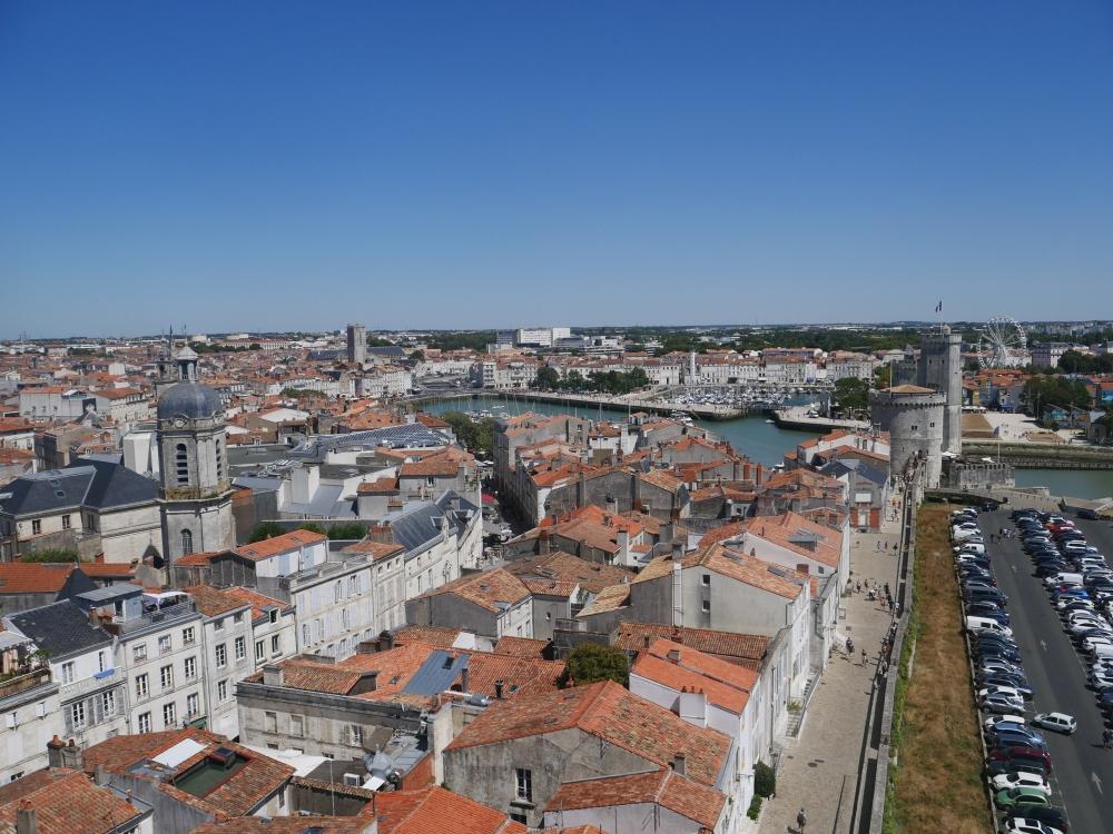 Vue le port depuis la Tour de la Lanterne