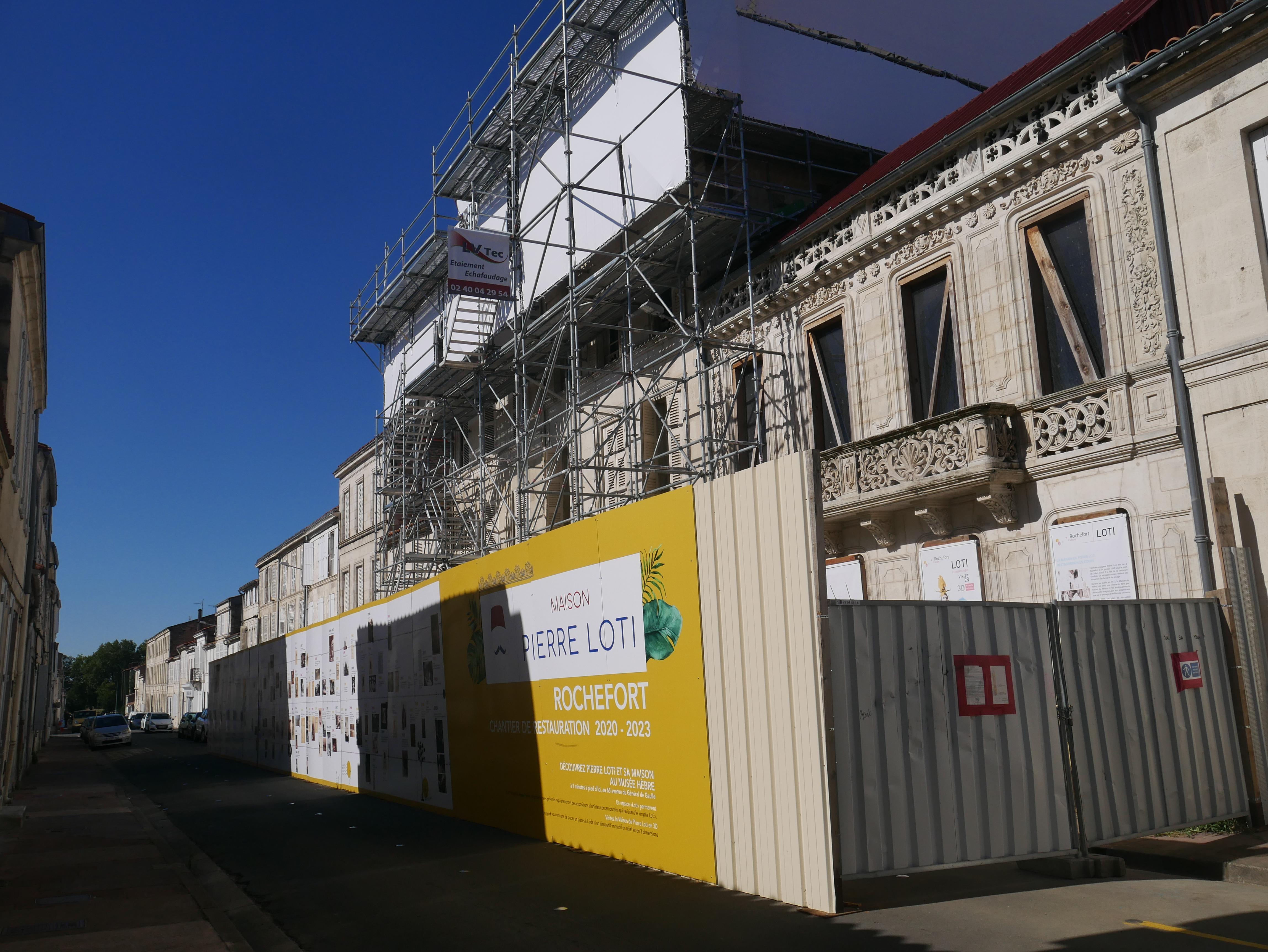 La Maison de Pierre Loti en restauration...